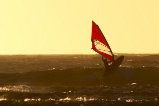 Sara i solnedgangen i Vestaustralien